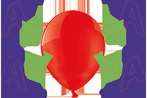 4-seitiger Siebdruck auf Luftballons