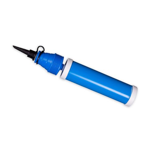 Luftballonhandpumpe in blau/weiß
