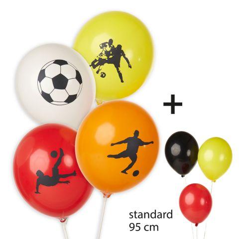 Ballons «motifs de football» + ballons non imprimés