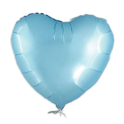 Hellblauer Folienballon ohne Aufdruck. 45 cm groß