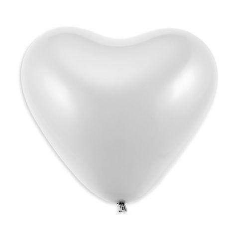 Ballons blanches en forme de cœur, 75 cm de circonférence (10 pièces)